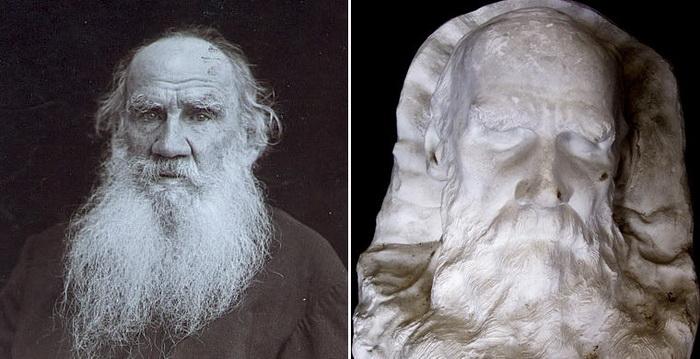Посмертная маска Льва Толстого