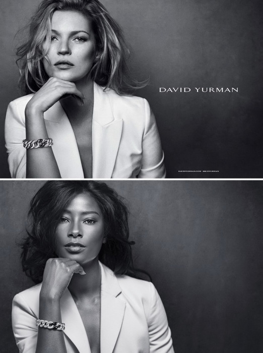 David Yurman: классическая реклама и альтернатива от темнокожей модели
