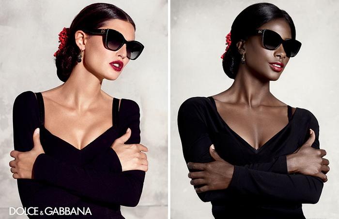 Dolce&Gabbana: классическая реклама и альтернатива от темнокожей модели