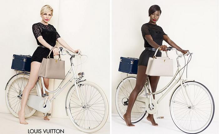 Louis Vuitton: классическая реклама и альтернатива от темнокожей модели