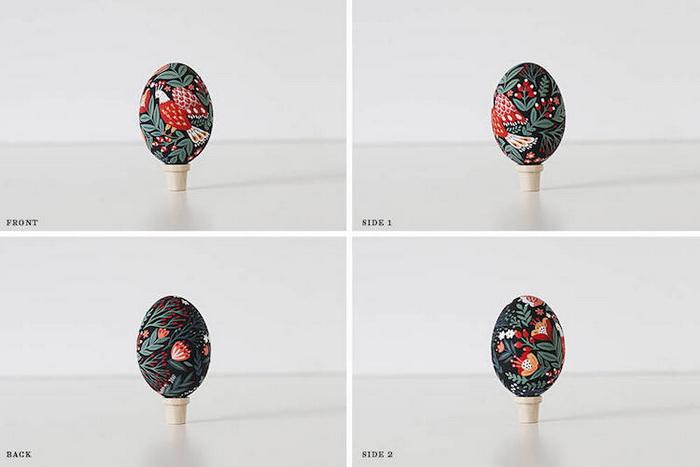Вид пасхального яца с разных ракурсов.