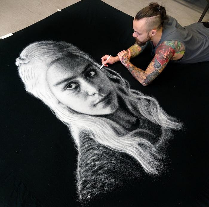 Рисунок солью