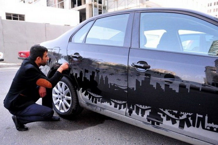 Рисунки на грязном автомобиле от Rafael Veyisov