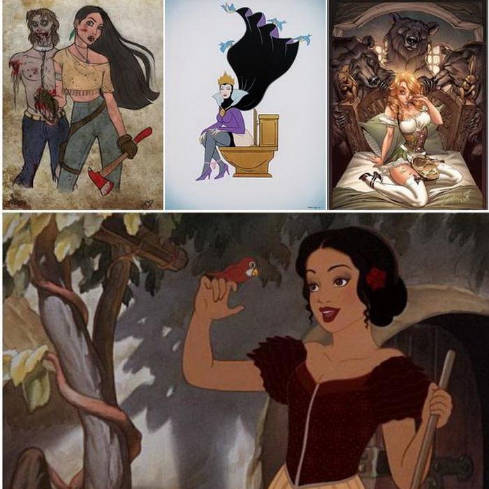 Оригинальные образы диснеевских персонажей