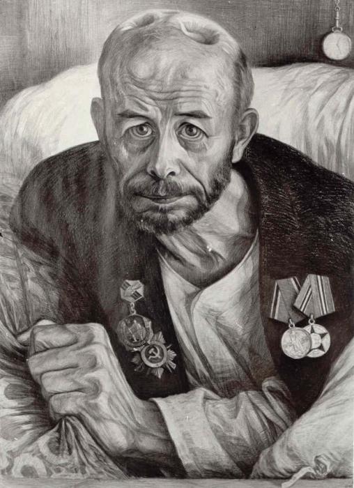 Ранен при защите СССР. Автор: Геннадий Добров