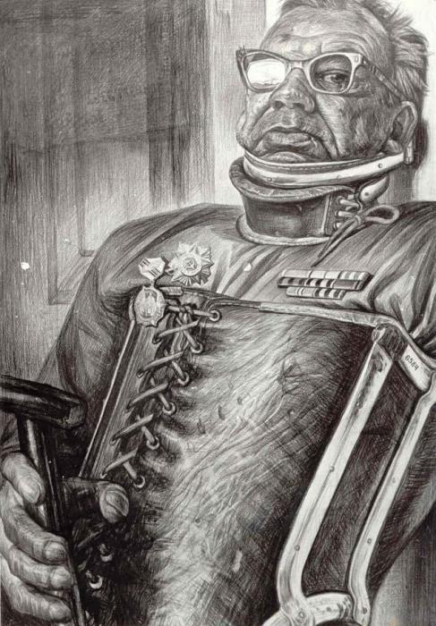 Партизан. Автор: Геннадий Добров. Портрет москвича Виктора Лукина