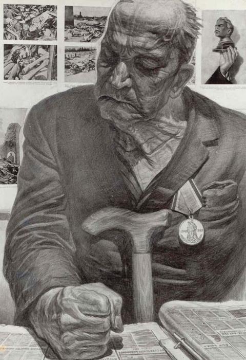 Память. Автор: Геннадий Добров. Портрет Георгия Зотова