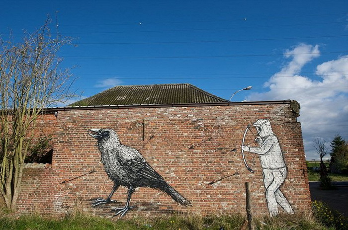 *Прощальный* стрит-арт на улицах умирающей бельгийской деревни Дойл