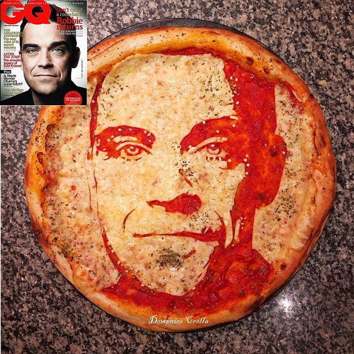 Пицца - портрет Робби Уильямса