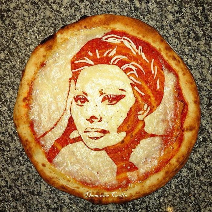 Портрет Софи Лорен. Работа пиццейола Доменико Кролла