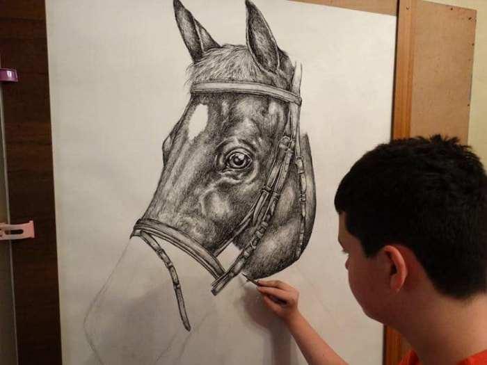 Всю жизнь Дусан рисует животных.