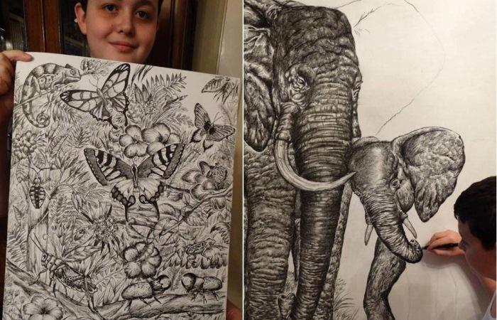 Dusan Ktorlica - 15-летний художник-вундеркинд.