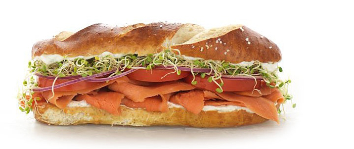 Аппетитный сэндвич.
