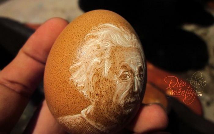 Резьба по яичной скорлупе от художника Ben Tre