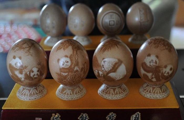 Коллекция резных яиц от художника Pu Derong