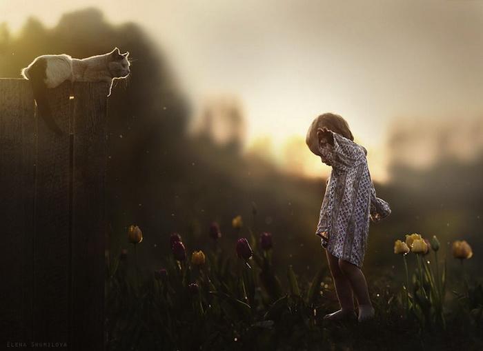 Детство в деревне: трогательный фотоцикл от Елены Шумиловой