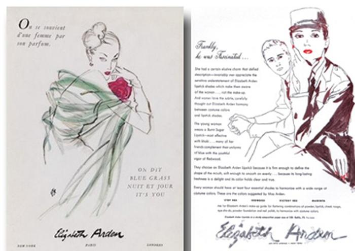 Реклама косметики Elizabeth Arden в журнале Vogue