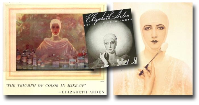 Французская модель Сесил Бейлисс (Cecille Bayliss) - лицо бренда Elizabeth Arden с 1920 по 1940 года.