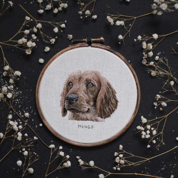 Вышитые портреты собак от Эмилли Феррис (Emillie Ferris)