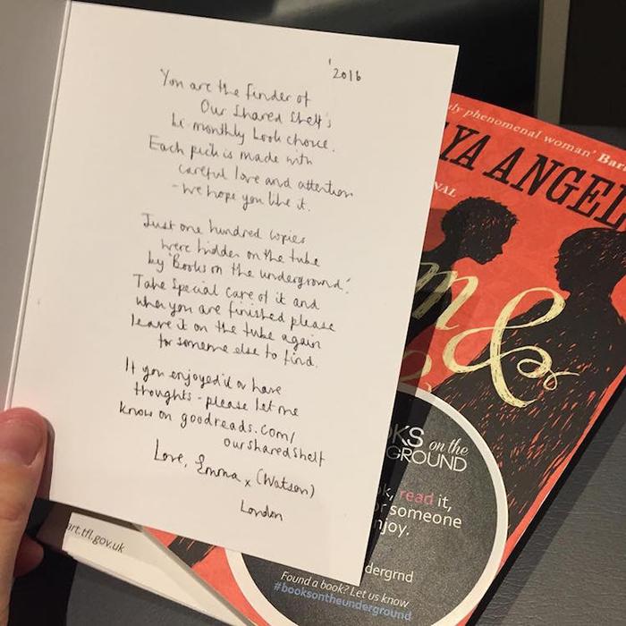 Книга с автографом Эммы Уотсон