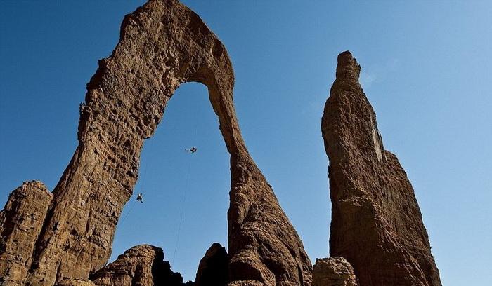 Горное плато Эннеди в сердце пустыни Сахара