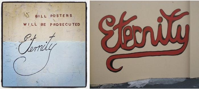 Две сохранившиеся надписи, сделанные рукой Стейси.