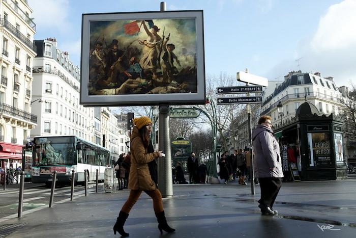 Репродукция картины Эжена Делакруа «Свобода на баррикадах»