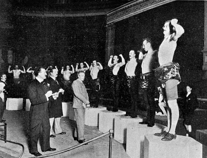 Конкурс атлетической красоты «Великая конкуренция» был проведен по инициативе Сандова в 1901 году