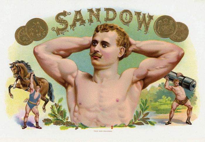 Портреты Сандова украшали даже коробки с сигарами