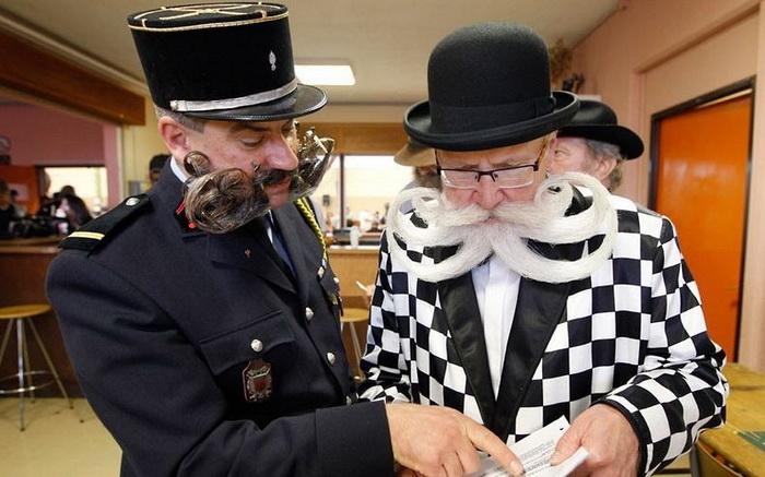 Экстравагантные участники Чемпионата бороды и усов во Франции