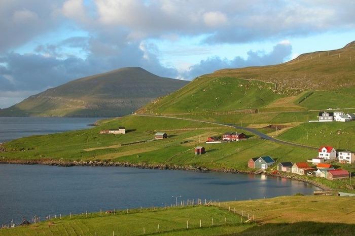Живописные деревни на островах Faroe