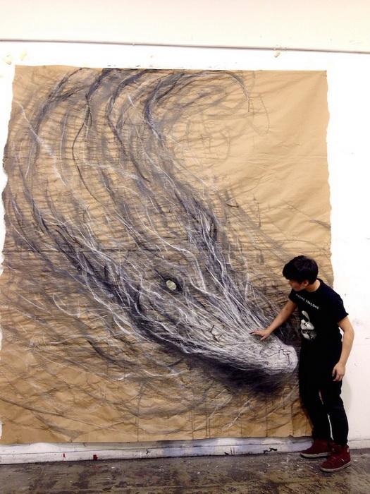 Объемные рисунки от Фиона Тэн (Fiona Tang)