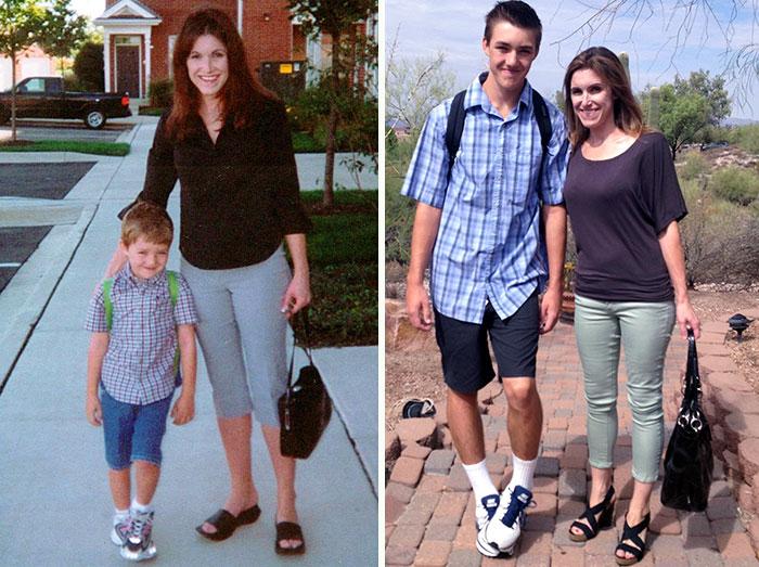 До и после: первый и последний день школы
