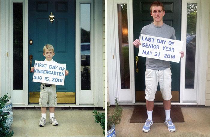 От детского сада до выпускника школы