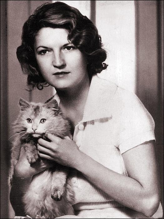 Портрет Зельды Фицджеральд с котом.