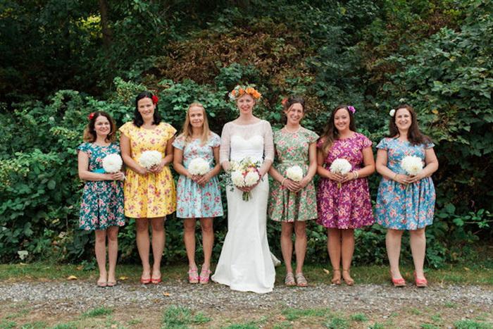 Платья цвета радуги