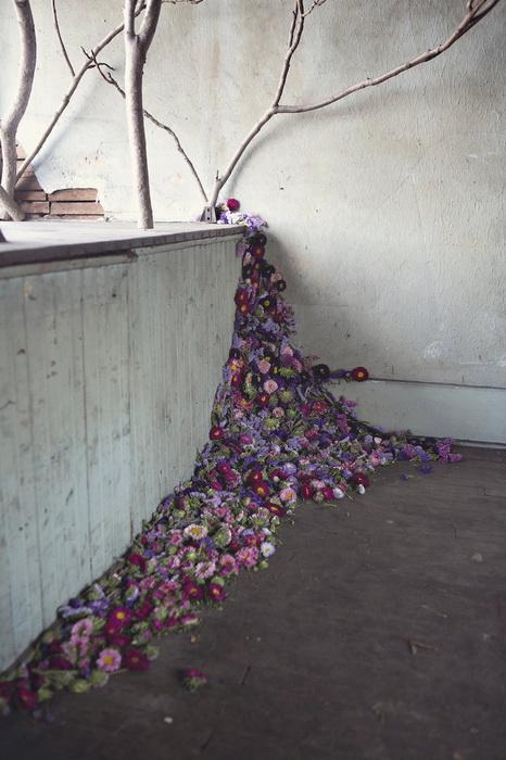 Флористическая инсталляция от Лизы Воуд (Lisa Waud)