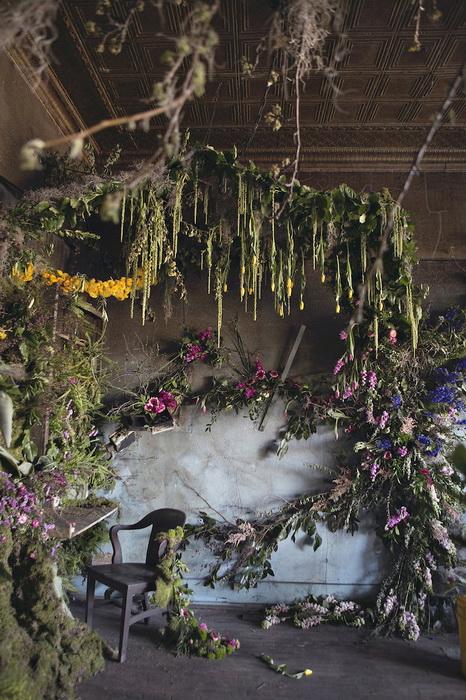 Цветочный дом: флористическая инсталляция