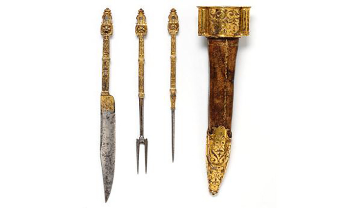 Вилки из стали с позолотой. Франция, 1550-1600-е гг.