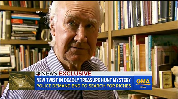 Сообщение о гибели мужчины, отправившегося на поиски сокровищ.
