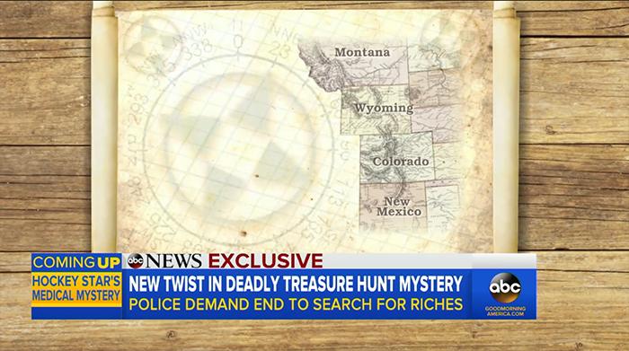 Карта, где могут быть спрятаны сокровища.