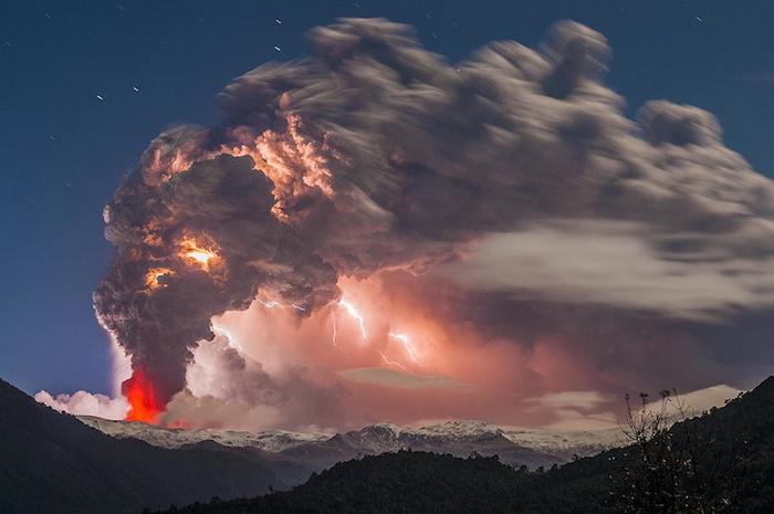 Извержение вулкана Cordon Caulle, Чили