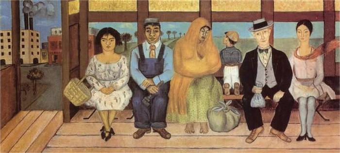 *Автобус*, художник Фрида Кало.