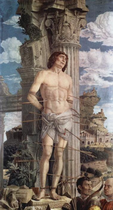 Святой Себастьян, художник Андреа Мантенья.