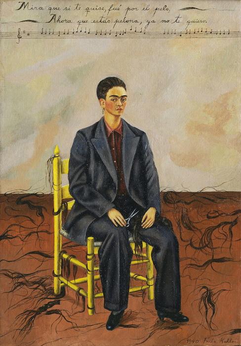 Автопортрет с обрезанными волосами, 1940 год.
