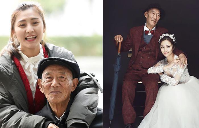 Свадебная фотосессия для любимого дедушки.