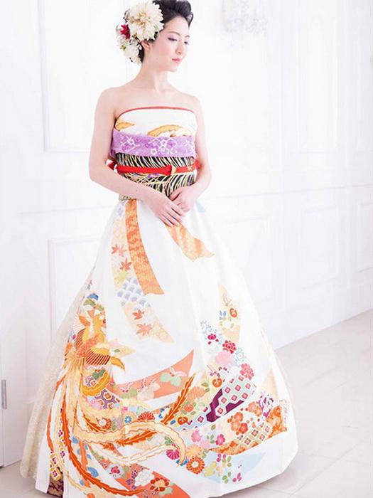 Свадебное платье из кимоно