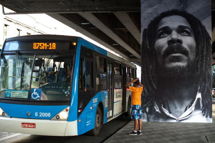 Проект «Projeto Giganto» на улицах Сан-Паулу
