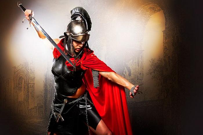 Женщины-гладиаторы в Древнем Риме, современная иллюстрация