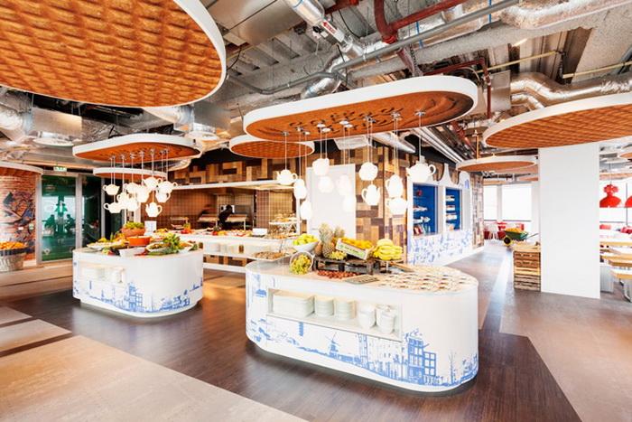 Оформление интерьера в кафетерии